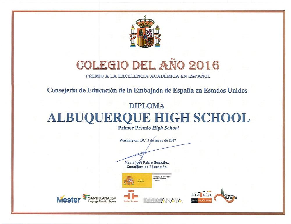 High School of the year 2016